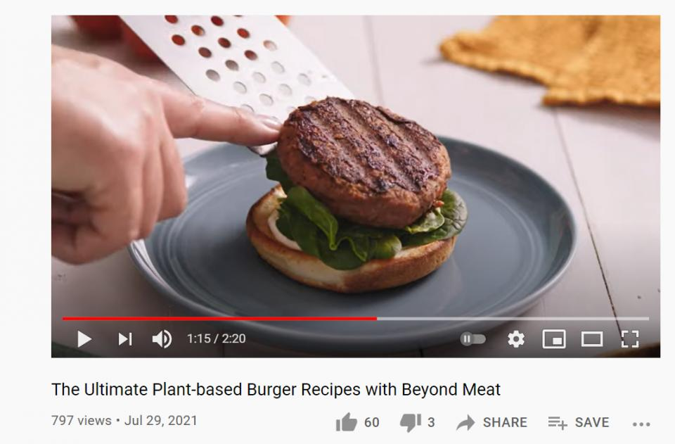 Beyond Meat's social account 3