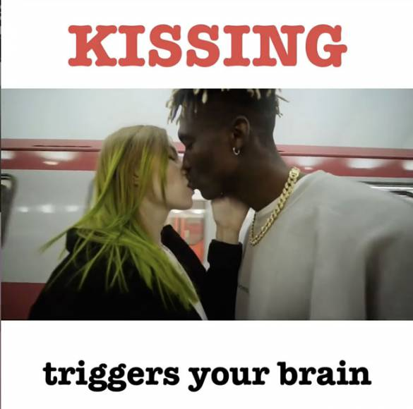 Kissing triggers your brain - Influencer Marketing Agency - Americanoize